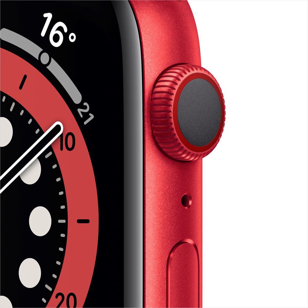 Apple Watch Series 6 Cellular 44mm RED 알루미늄 케이스, 그리고 RED 스포츠 밴드 (M09C3KH/A)