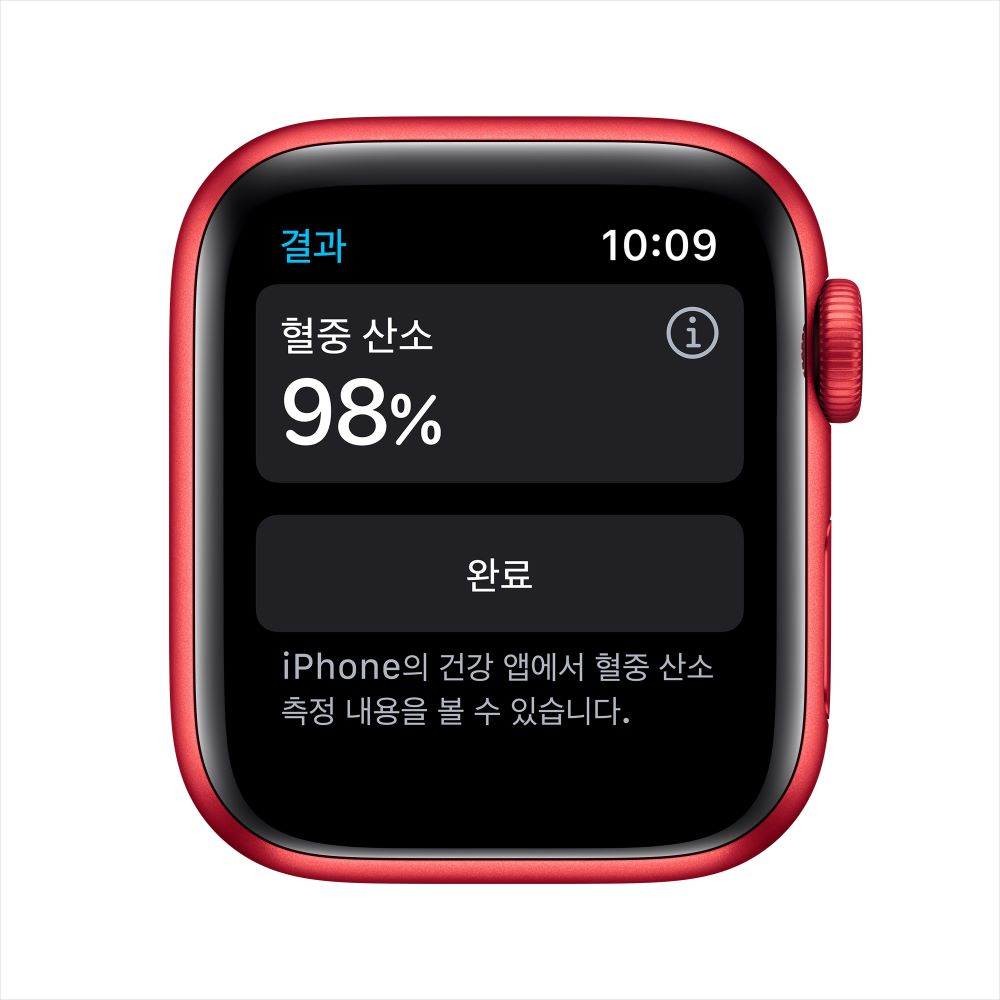 Apple Watch Series 6 Cellular 40mm RED 알루미늄 케이스, 그리고 RED 스포츠 밴드 (M06R3KH/A)