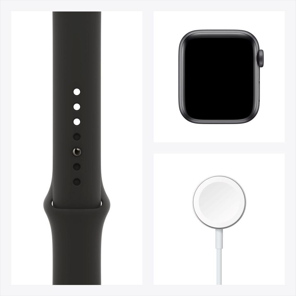 Apple Watch Series 6 GPS 44mm 스페이스그레이 알루미늄 케이스, 그리고 블랙 스포츠 밴드 (M00H3KH/A)