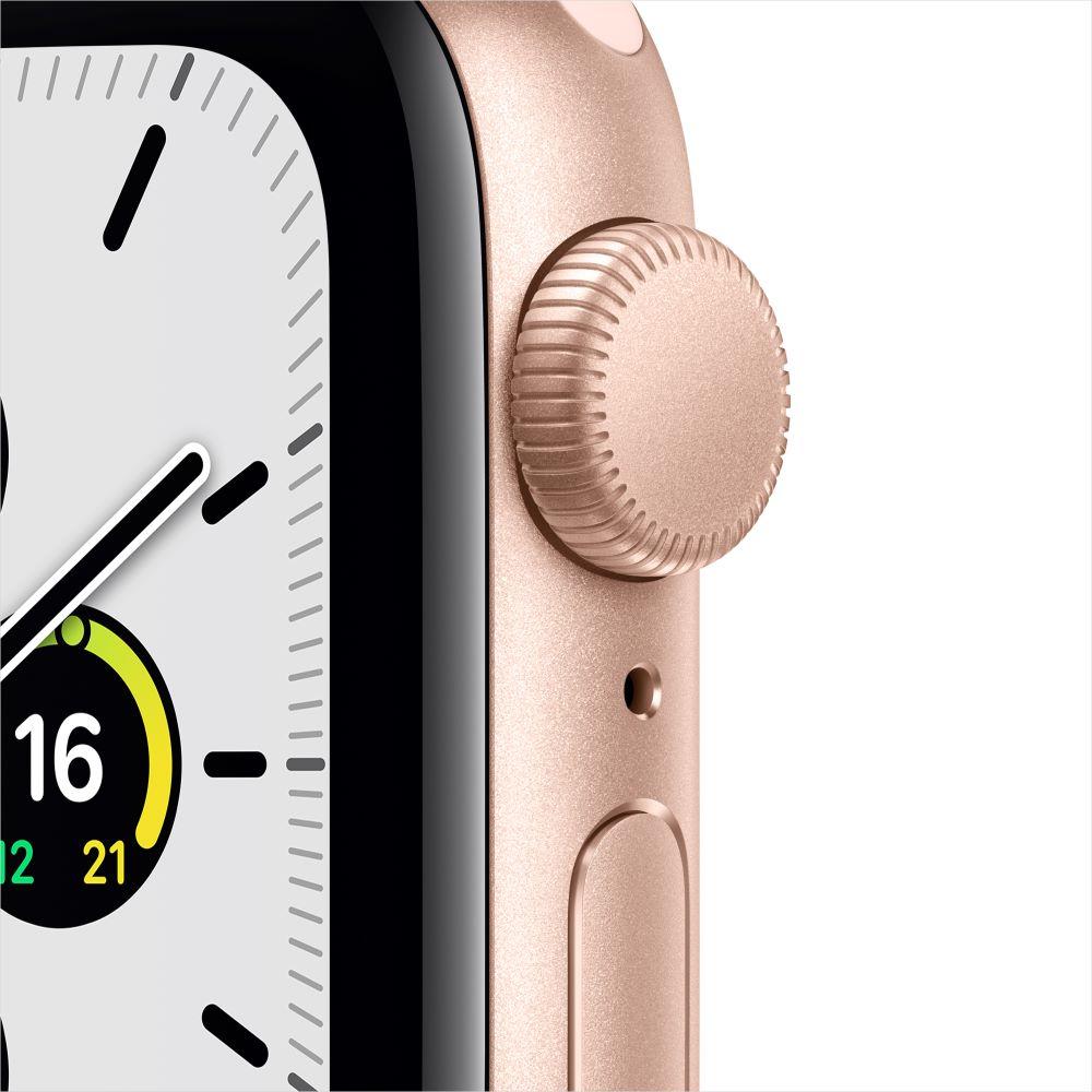 Apple Watch SE GPS 40mm 골드 알루미늄 케이스, 그리고 핑크샌드 스포츠 밴드 (MYDN2KH/A)
