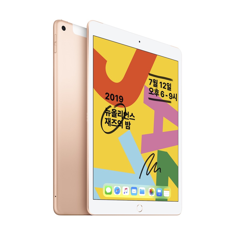 10.2형 iPad 2019년형 Wi-Fi+Cellular 32GB 골드 (MW6D2KH/A)