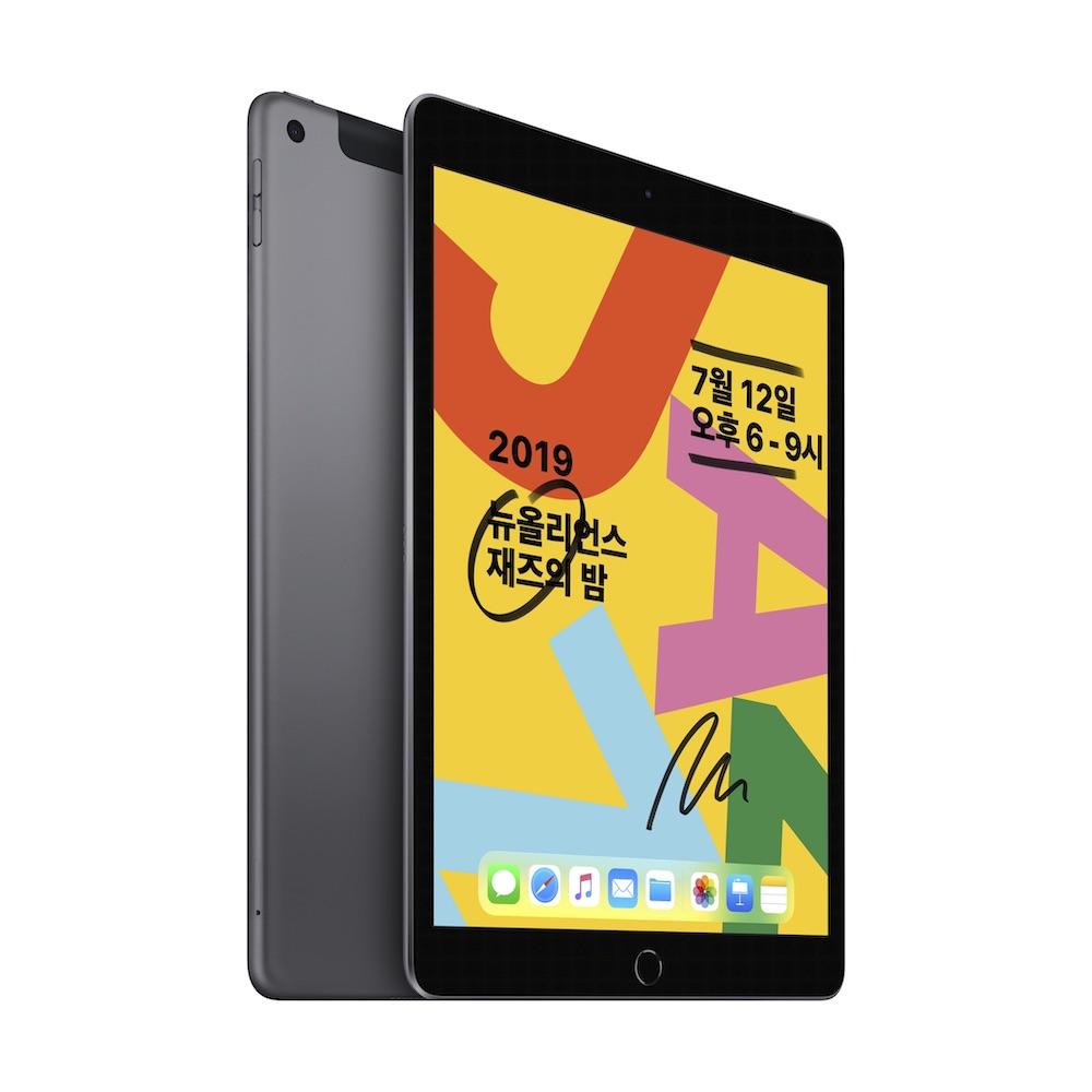 10.2형 iPad 2019년형 Wi-Fi+Cellular 32GB 스페이스 그레이 (MW6A2KH/A)